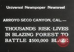 Image of forest fire California United States USA, 1934, second 4 stock footage video 65675063715