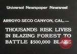 Image of forest fire California United States USA, 1934, second 9 stock footage video 65675063715