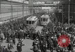 Image of trolleys outside factory United States USA, 1918, second 11 stock footage video 65675063746