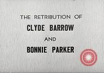 Image of Retribution of Clyde Barrow and Bonnie Parker Dallas Texas USA, 1934, second 1 stock footage video 65675063766