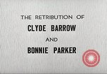 Image of Retribution of Clyde Barrow and Bonnie Parker Dallas Texas USA, 1934, second 2 stock footage video 65675063766