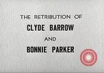 Image of Retribution of Clyde Barrow and Bonnie Parker Dallas Texas USA, 1934, second 4 stock footage video 65675063766