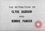 Image of Retribution of Clyde Barrow and Bonnie Parker Dallas Texas USA, 1934, second 6 stock footage video 65675063766