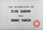 Image of Retribution of Clyde Barrow and Bonnie Parker Dallas Texas USA, 1934, second 8 stock footage video 65675063766