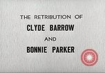 Image of Retribution of Clyde Barrow and Bonnie Parker Dallas Texas USA, 1934, second 10 stock footage video 65675063766