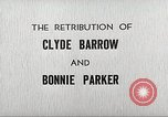 Image of Retribution of Clyde Barrow and Bonnie Parker Dallas Texas USA, 1934, second 12 stock footage video 65675063766