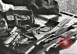 Image of Items in car of Clyde Barrow and Bonnie Parker Arcadia Louisiana USA, 1934, second 10 stock footage video 65675063769