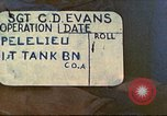 Image of 1st Tank Battalion Peleliu Palau Islands, 1944, second 1 stock footage video 65675063840