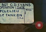 Image of 1st Tank Battalion Peleliu Palau Islands, 1944, second 2 stock footage video 65675063840