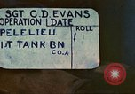 Image of 1st Tank Battalion Peleliu Palau Islands, 1944, second 4 stock footage video 65675063840
