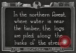 Image of lumber industry United States USA, 1922, second 6 stock footage video 65675063924