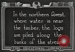 Image of lumber industry United States USA, 1922, second 9 stock footage video 65675063924