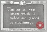 Image of lumber industry United States USA, 1922, second 1 stock footage video 65675063926