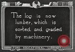 Image of lumber industry United States USA, 1922, second 6 stock footage video 65675063926