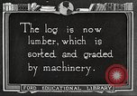Image of lumber industry United States USA, 1922, second 7 stock footage video 65675063926
