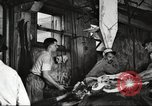 Image of workers in butchery United States USA, 1919, second 5 stock footage video 65675063928