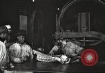 Image of workers in butchery United States USA, 1919, second 8 stock footage video 65675063930