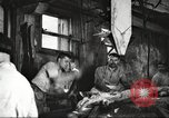 Image of workers in butchery United States USA, 1919, second 2 stock footage video 65675063932