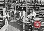 Image of workers in butchery United States USA, 1919, second 7 stock footage video 65675063934