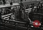 Image of workers in butchery United States USA, 1919, second 10 stock footage video 65675063934