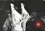 Image of workers in butchery United States USA, 1919, second 1 stock footage video 65675063935