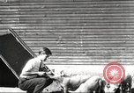 Image of workers in barn United States USA, 1920, second 2 stock footage video 65675063942