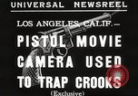 Image of Pistol movie camera Los Angeles California USA, 1935, second 2 stock footage video 65675063945