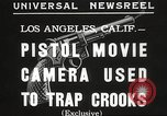 Image of Pistol movie camera Los Angeles California USA, 1935, second 3 stock footage video 65675063945