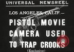 Image of Pistol movie camera Los Angeles California USA, 1935, second 4 stock footage video 65675063945