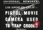 Image of Pistol movie camera Los Angeles California USA, 1935, second 5 stock footage video 65675063945