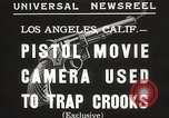 Image of Pistol movie camera Los Angeles California USA, 1935, second 6 stock footage video 65675063945