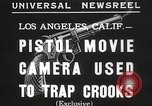 Image of Pistol movie camera Los Angeles California USA, 1935, second 7 stock footage video 65675063945