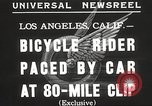 Image of bicycle rider Los Angeles California USA, 1935, second 2 stock footage video 65675063946