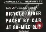 Image of bicycle rider Los Angeles California USA, 1935, second 3 stock footage video 65675063946