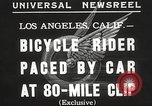 Image of bicycle rider Los Angeles California USA, 1935, second 4 stock footage video 65675063946
