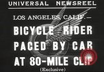 Image of bicycle rider Los Angeles California USA, 1935, second 5 stock footage video 65675063946
