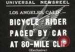 Image of bicycle rider Los Angeles California USA, 1935, second 7 stock footage video 65675063946