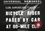 Image of bicycle rider Los Angeles California USA, 1935, second 8 stock footage video 65675063946