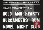 Image of Pirate dinner theater club Miami Beach Florida USA, 1935, second 4 stock footage video 65675063950