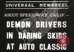 Image of automobile race Los Angeles California USA, 1935, second 4 stock footage video 65675063951