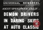 Image of automobile race Los Angeles California USA, 1935, second 7 stock footage video 65675063951