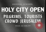 Image of Jewish religious pilgrims in Jerusalem after Six Day War Jerusalem Israel, 1967, second 2 stock footage video 65675063952