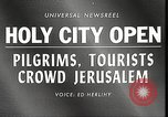 Image of Jewish religious pilgrims in Jerusalem after Six Day War Jerusalem Israel, 1967, second 3 stock footage video 65675063952