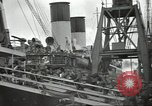 Image of British Expeditionary Force departing via ship France, 1940, second 2 stock footage video 65675064180