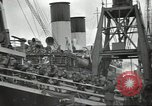 Image of British Expeditionary Force departing via ship France, 1940, second 10 stock footage video 65675064180