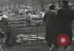 Image of workers dig trench London England United Kingdom, 1938, second 2 stock footage video 65675064221