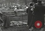 Image of workers dig trench London England United Kingdom, 1938, second 5 stock footage video 65675064221