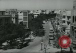 Image of traffic on street Tel Aviv Palestine, 1945, second 7 stock footage video 65675064264