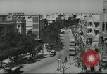 Image of traffic on street Tel Aviv Palestine, 1945, second 10 stock footage video 65675064264