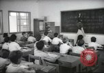 Image of Jewish children receiving instruction at Bialik Hebrew Day School Palestine, 1945, second 5 stock footage video 65675064275